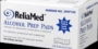 Reliamed Alcohol Prep pads - Box of 100